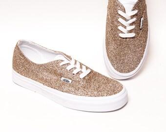 af18274204d Champagne Glitter Vans Authentic Shoes
