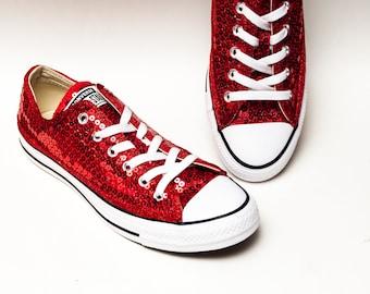 d173196776ec Red Sequin Converse® Low Top Sneakers