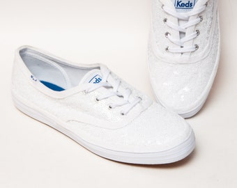 2cef0ec3009 Bridal Favorite - Starlight Sequin Bridal White Keds Brand Sneaker Canvas Tennis  Shoes