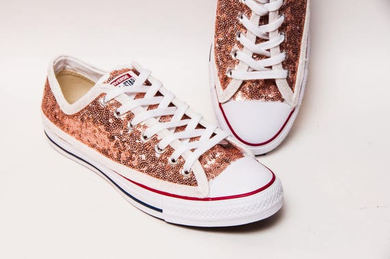 Rose Gold Sequin Converse® Low Top Sneakers
