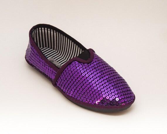 Sequin - raisin violet Alpargata toile classiques glissent glissent glissent sur les chaussures | Une Grande Variété De Marchandises  d57e92