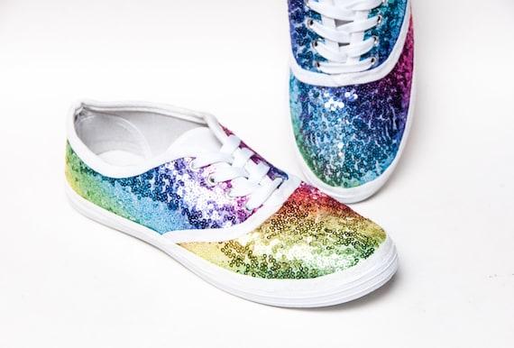 fb628ef00314f Sequin - Starlight Rainbow CVO Multi Color Canvas Sneakers Shoes