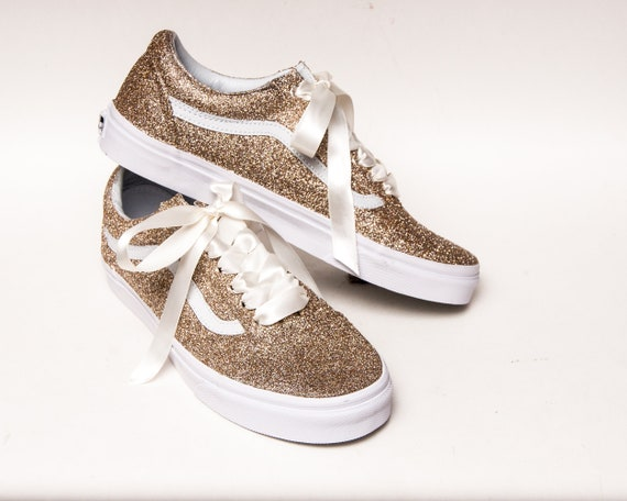 Champagner Gold Glitter Vans Old Skool Sneakers