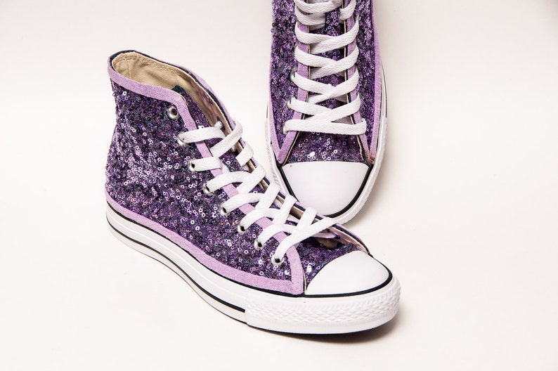 130f68aecdd60 Lavender Sequin Converse® High Top Sneakers