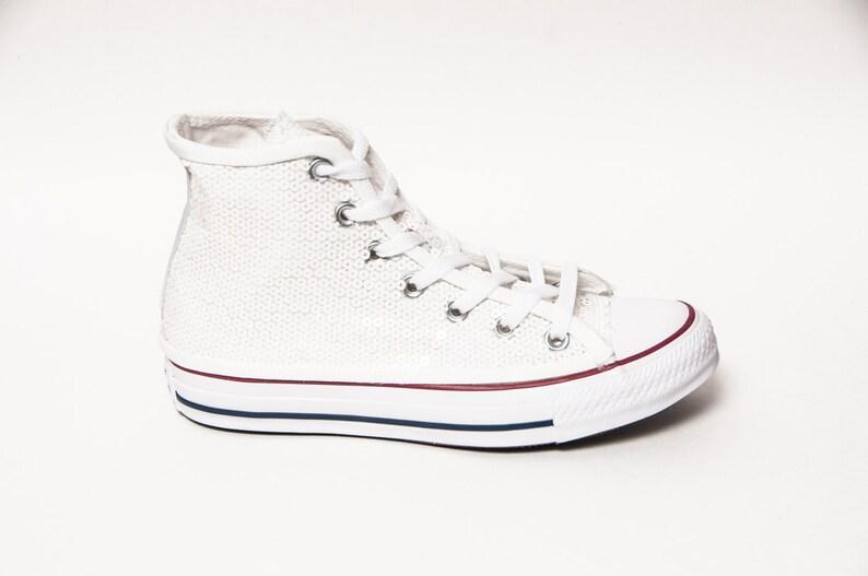 a594bda73e6a Bridal Sequin Bridal White Converse® All Star Hi Top