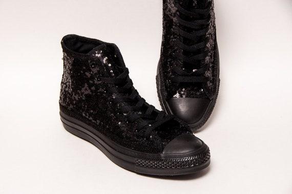 Black Starlight Sequin Converse® High Top Sneakers