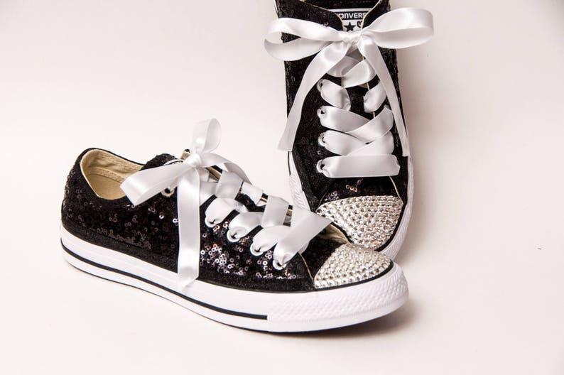 edb77298cd55 Tiny Sequin Full Starlight Converse® Black Canvas Low Top