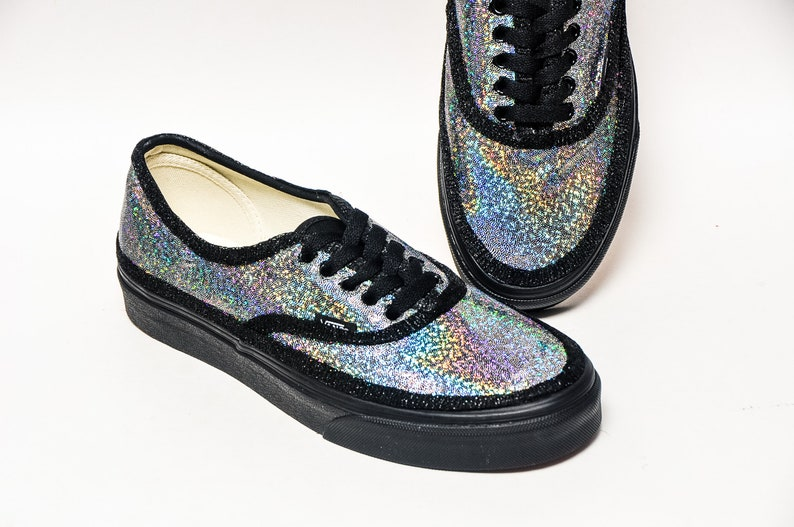 963075180b Silver Hologram Authentic Vans Canvas Sneakers