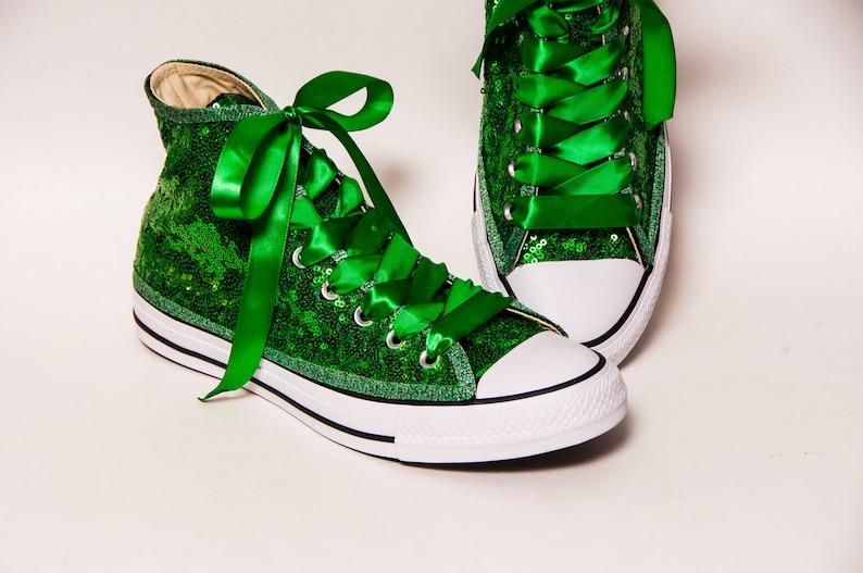 e1e7812e51ee Bridal Favorite Kelly Green Starlight Sequin Converse Hi Top