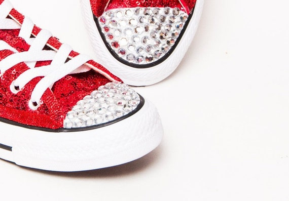 Bridal Favorite! Red Sequin Converse® Low Tops