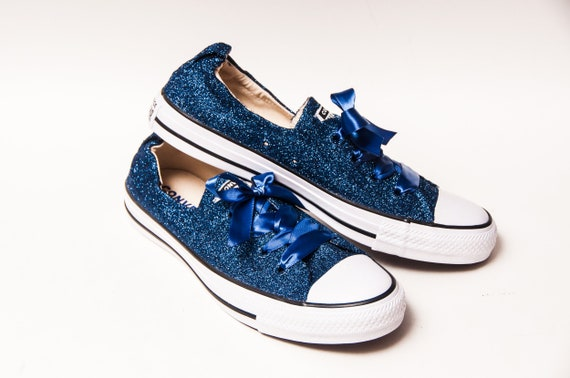 Navy Blue Glitter Converse® Shoreline Sneakers
