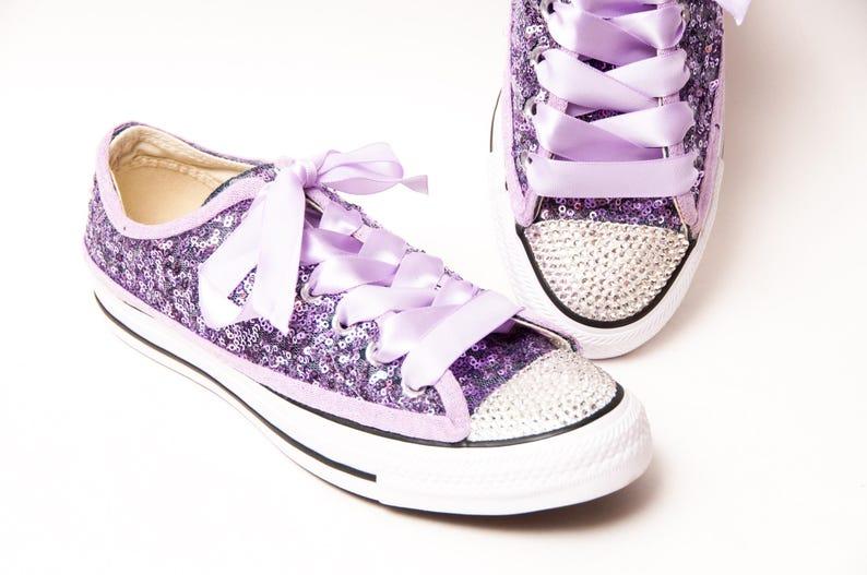 e1e6c85029bb Tiny Sequin Full Starlight Converse® Lavender Purple Canvas