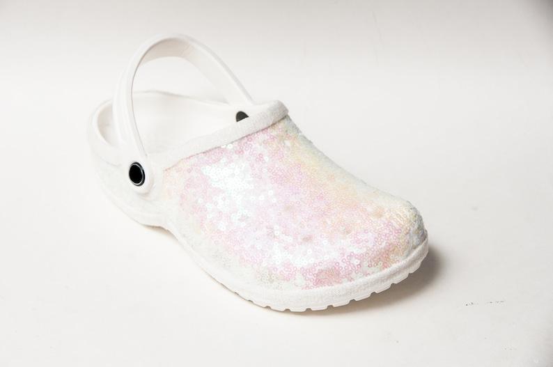 Bridal Favorite  Starlight Sequin Crystal Iris Clogs Classics image 2