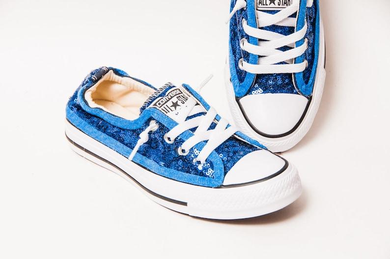 7b9e299d26ba Tiny Sequin Cobalt Blue Sparkly Canvas Shoreline Converse®