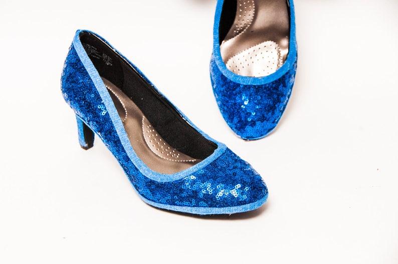 84b3dbeb01b7d Tiny Sequin - Starlight Sapphire Blue 3 Inch High Heels Pumps by Princess  Pumps
