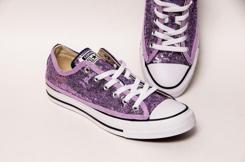 f31001b069ef Lavender Purple Starlight Sequin Low Top Converse Sneakers