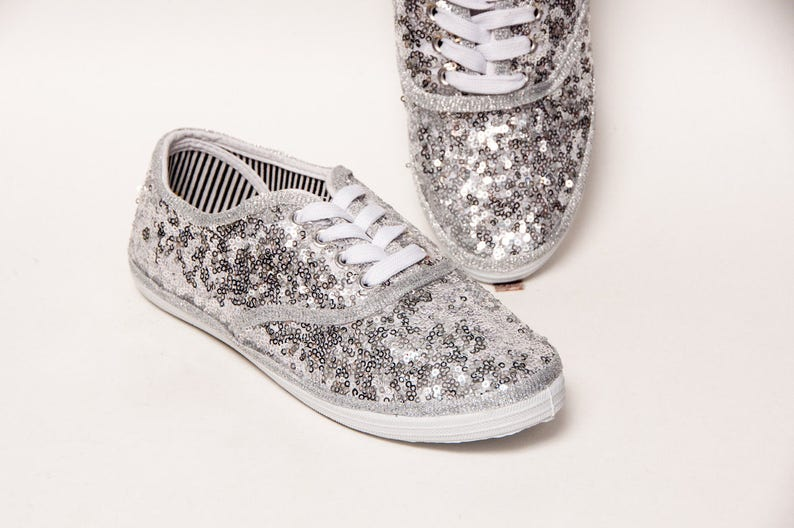 7230429154c4c Tiny Sequin - Starlight CVO Sterling Silver Canvas Sneakers Shoes