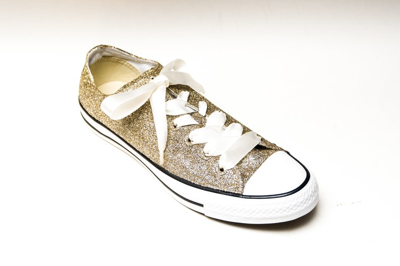 Champagne Glitter Converse® All Star Low Tops