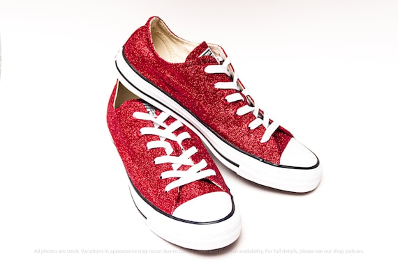 Red Glitter Converse® Sneakers