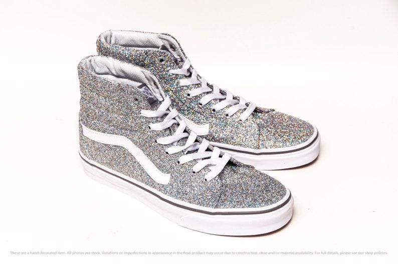 Silver Glitter SK8 Hi Top Vans Sneakers DPG3PcVz