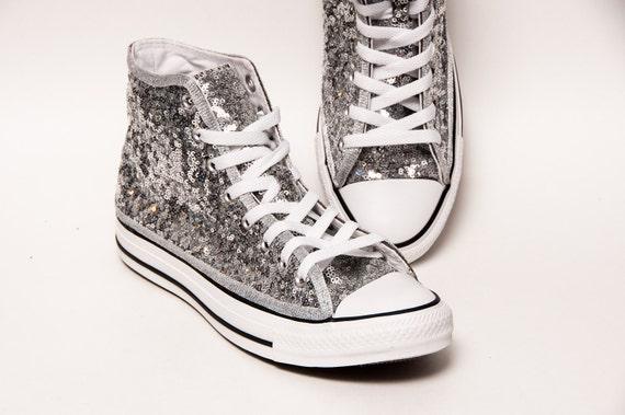 Silver Starlight Sequin Converse Canvas