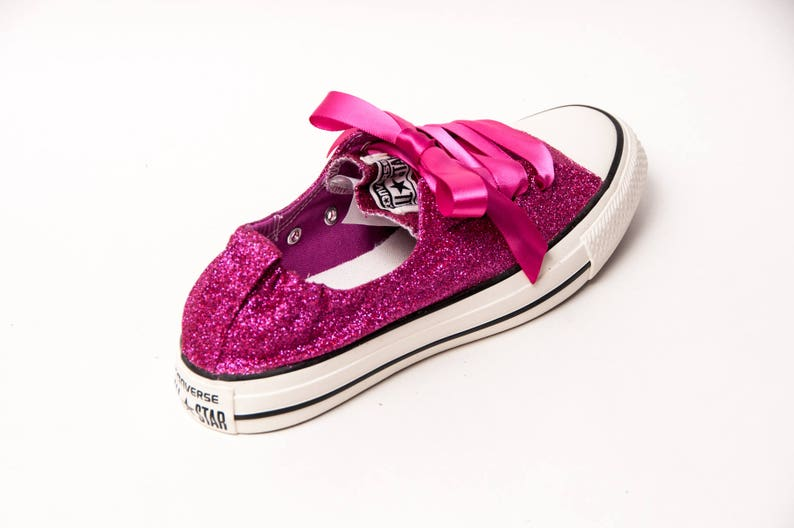 be9e41d8c70a1b Glitter Raspberry Pink Sparkly Canvas Shoreline Converse®