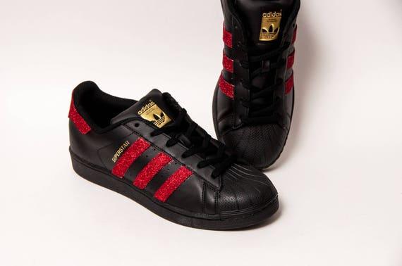 Über Ii Adidas Schwarz Rot Superstars Sneakers Glitter BoWQCdErex