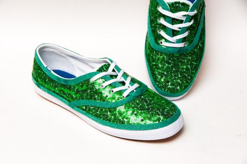 352819b1fe49b Kelly Green Starlight Sequin Keds Sneakers
