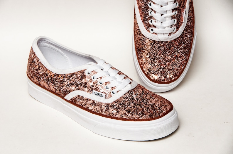 856155a726c Rose Gold Starlight Sequin Authentic Vans Sneakers