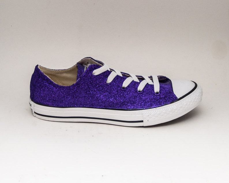 f69bd80abe8f Glitter Purple Canvas Converse® All Star Low Top Sneakers