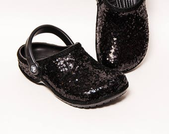 Black Starlight Sequin Crocs