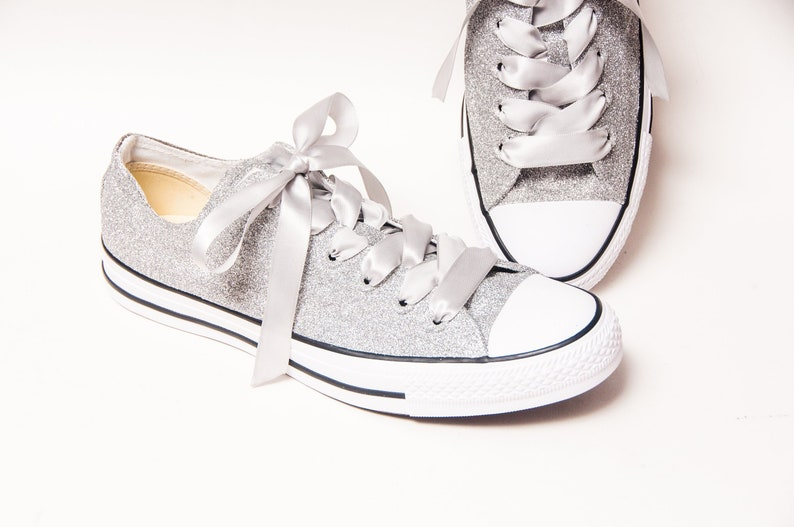 Silver Glitter Converse® Low Tops