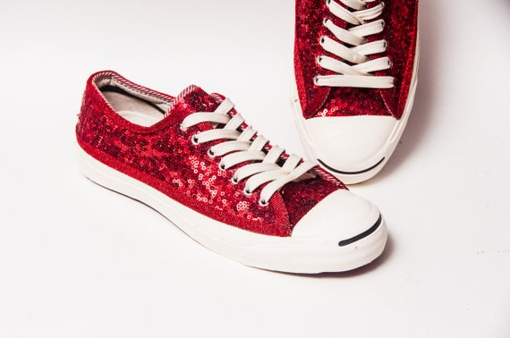 c1a83acce8b4 Red Starlight Sequin Converse® Jack Purcell® CP Low Top