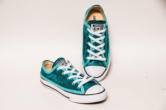 Youth Tiny Sequin Starlight Jade Turquoise Blue Converse®  7e7adce29