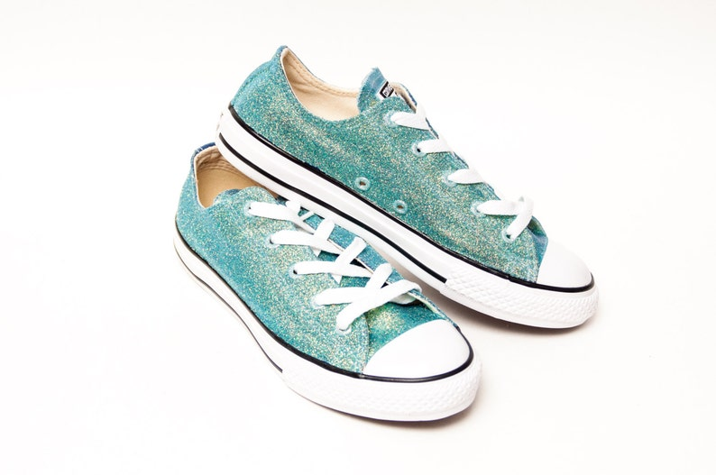 Youth Glitter Mediterranean Blue Converse® Low Tops