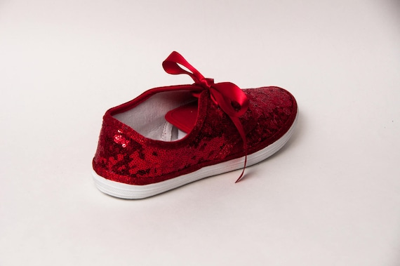 Bridal Favorite! Red Starlight Sequin Sneakers