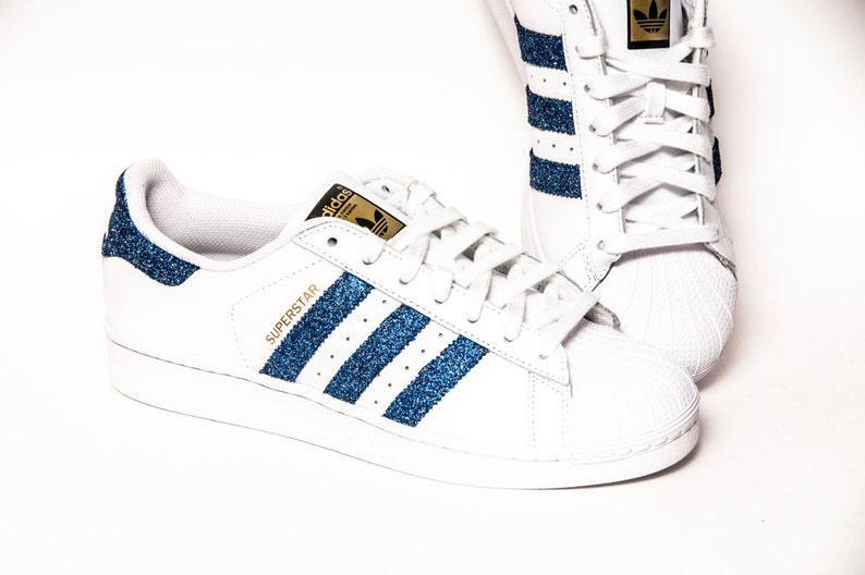 Glitter Limited Edition Starlight blu Adidas Superstar II  27ace9b7ce0d