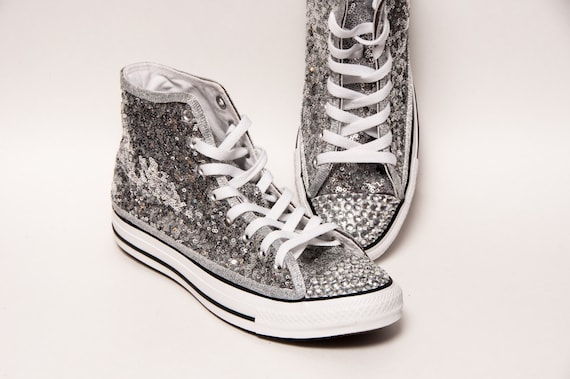 Tiny Sequin Starlight Sterling Silver and Crystal Converse®  0b4133188