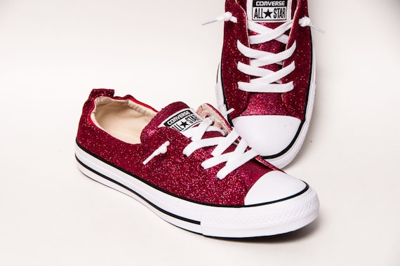 Raspberry Pink Glitter Shoreline Converse® Sneakers