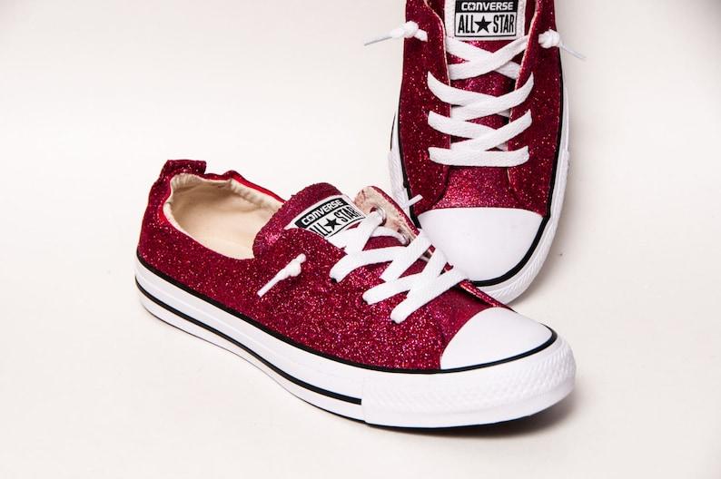 e9a72c76bda7 Raspberry Pink Glitter Shoreline Converse® Shoes