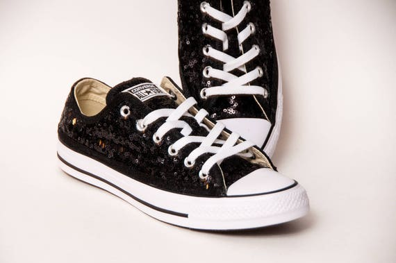 Starlight noir paillette Converse® basse baskets