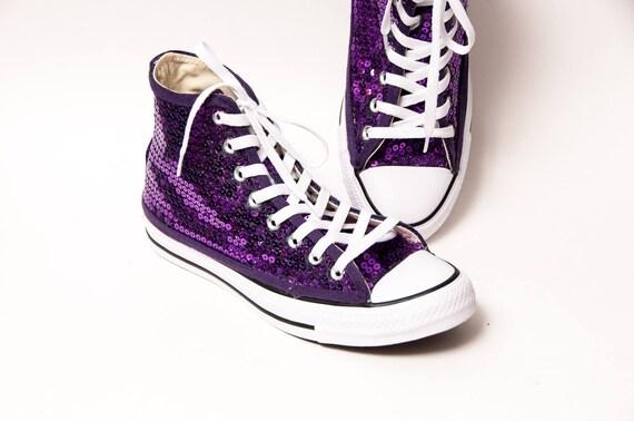 3f9492eef1cd Purple Sequin Converse® Hi Top Sneakers
