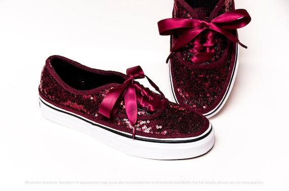 Burgund Starlight Pailletten authentische Vans Sneakers