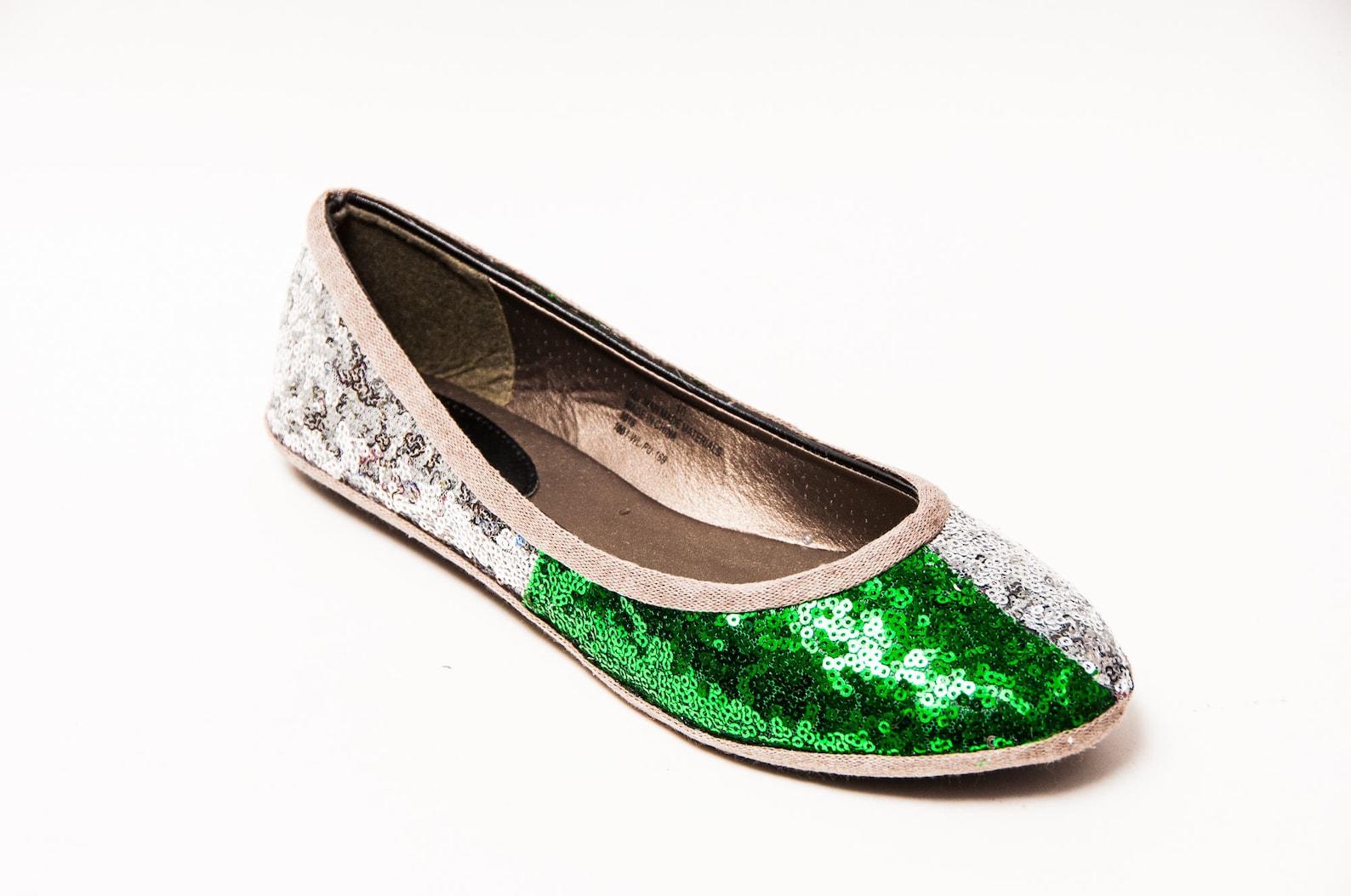 tiny sequin - 2 tone magic house dormitory ballet flats sequin shoes