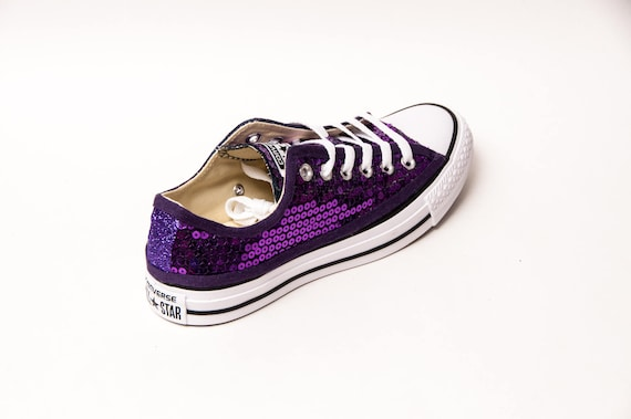 Purple Sequin Canvas Converse® Low Top Sneakers