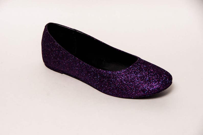 15ed38f21e46 Glitter Razzle Deep Purple Ballet Flat Slipper Shoes | Etsy