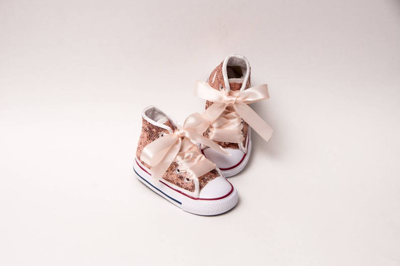 ad5525cbdb6 Sequin Toddler Converse® Rose Gold Canvas Hi Top Sneakers