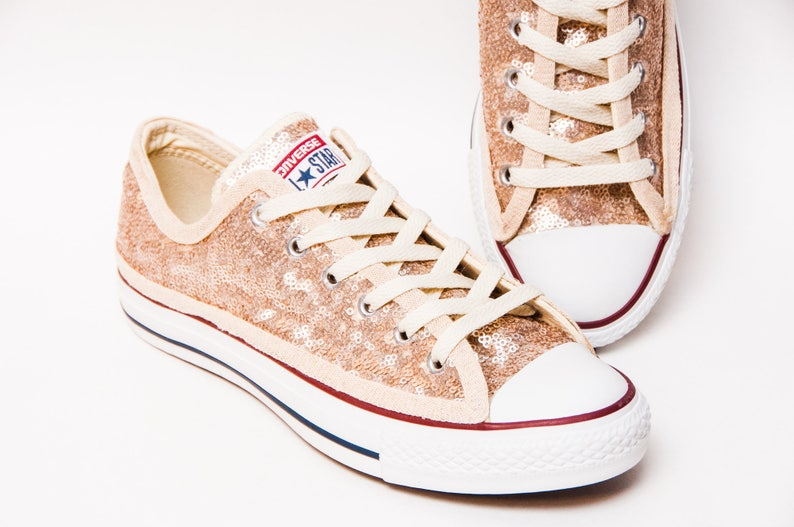 4d6a42edf15f0 Champagne Sequin Converse® Low Top Sneakers