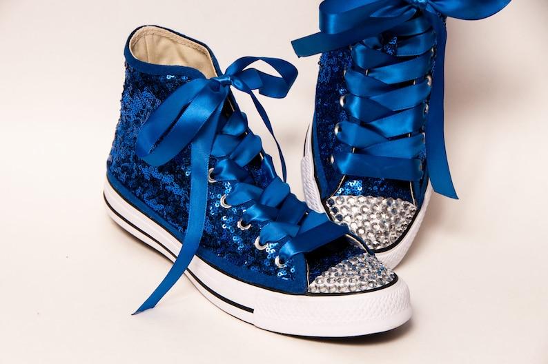 780c5548fcc2 Tiny Sequin Starlight Full Sapphire Converse® Canvas Hi Top