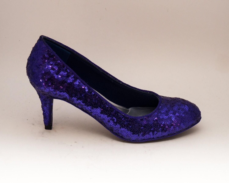 Petit Sequin | Starlight 3 pouces talons hauts pompes escarpins violet par princesse pompes hauts pompes de princesse 2c529a